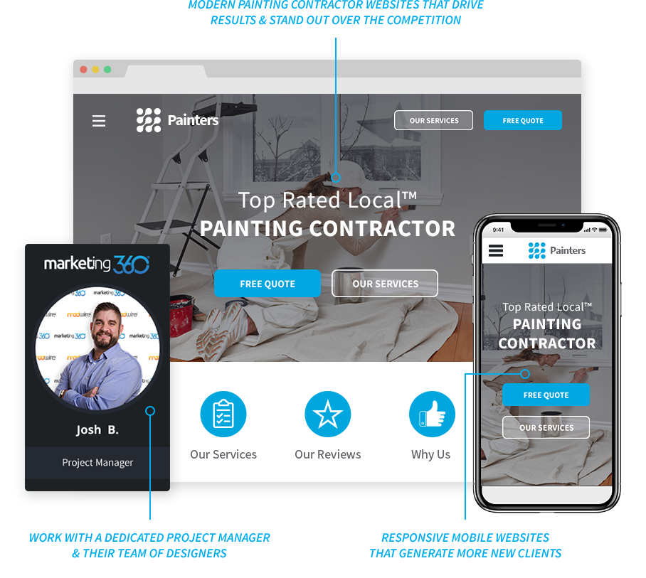 Painting Contractor Marketing, Websites, CRM & More - #1