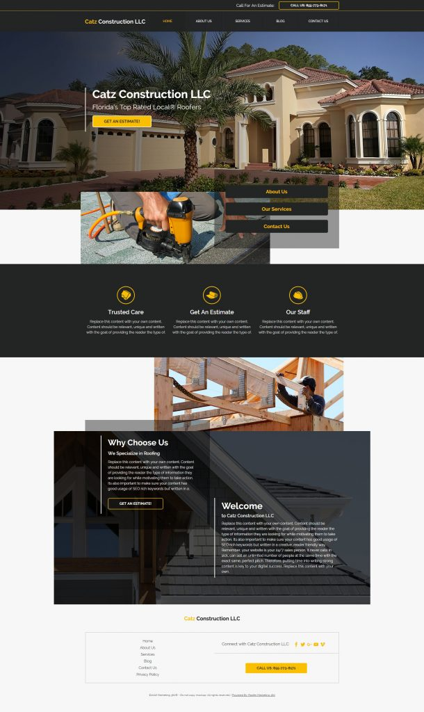 roofing website template