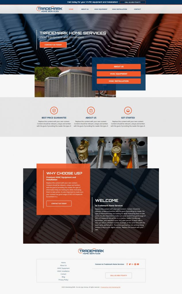 hvac website template