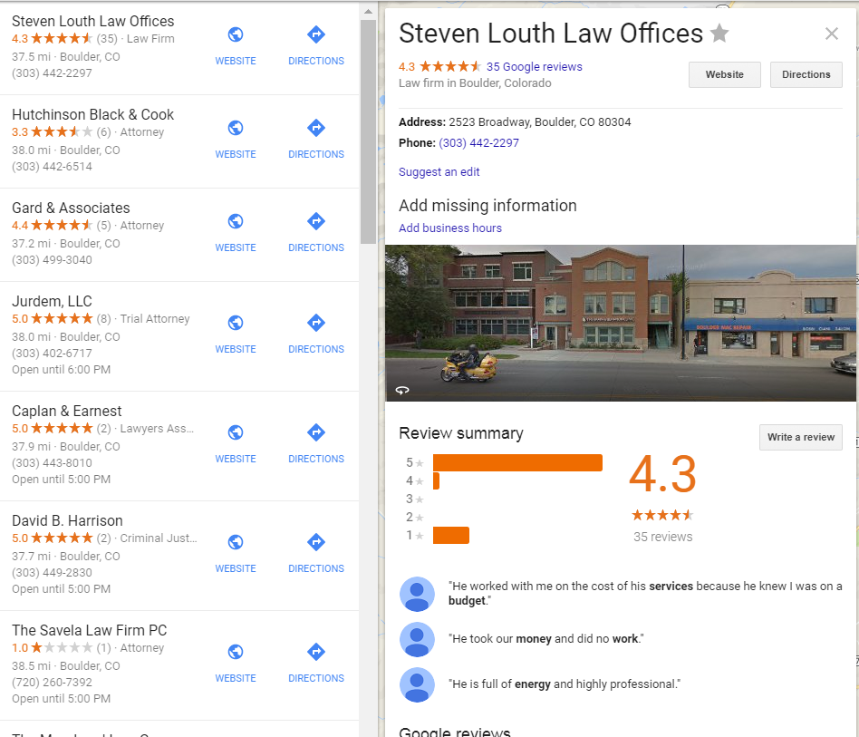 law firm google places