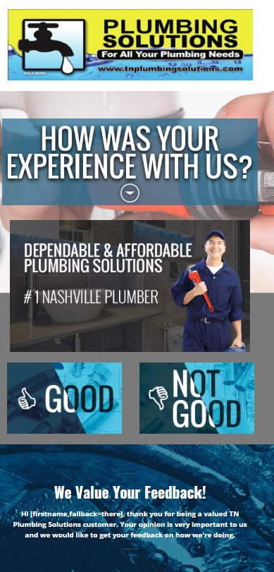plumber marketing review email