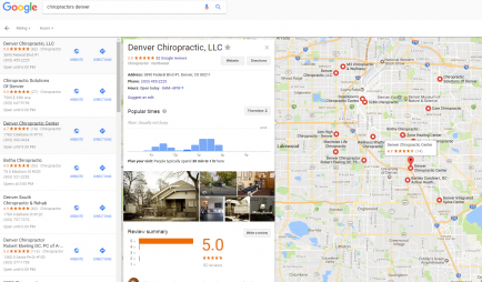 chiropractic local listing