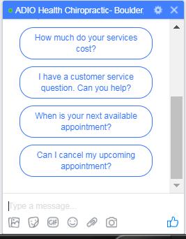 chiropractic marketing on facebook messenger
