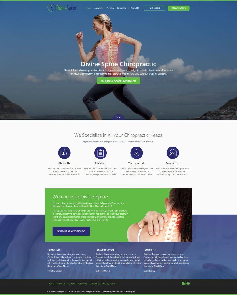 chiro website design