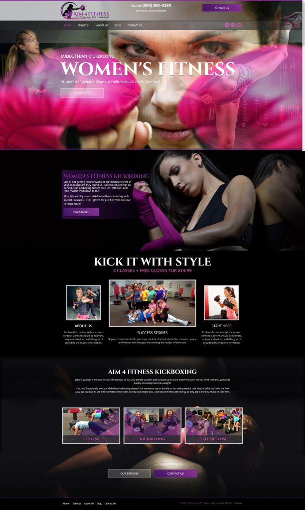 ladies fitness template
