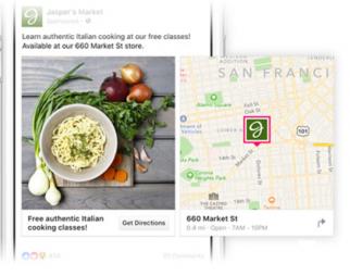 facebook ad map card