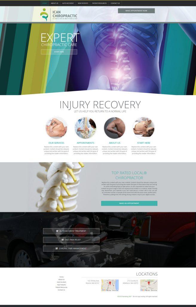 chiropractic website template design