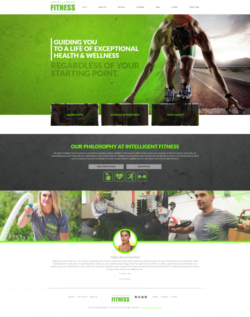 personal trainer website template