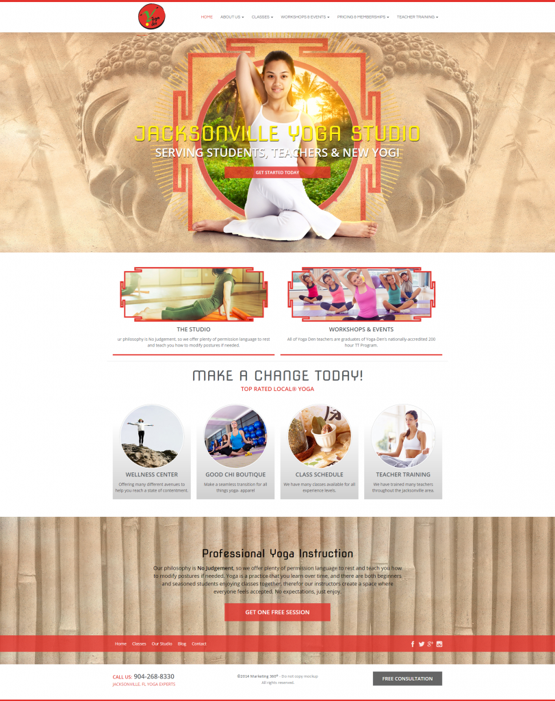 yoga studio template