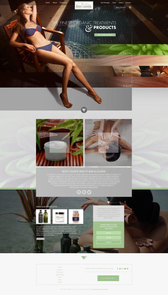 salon design template