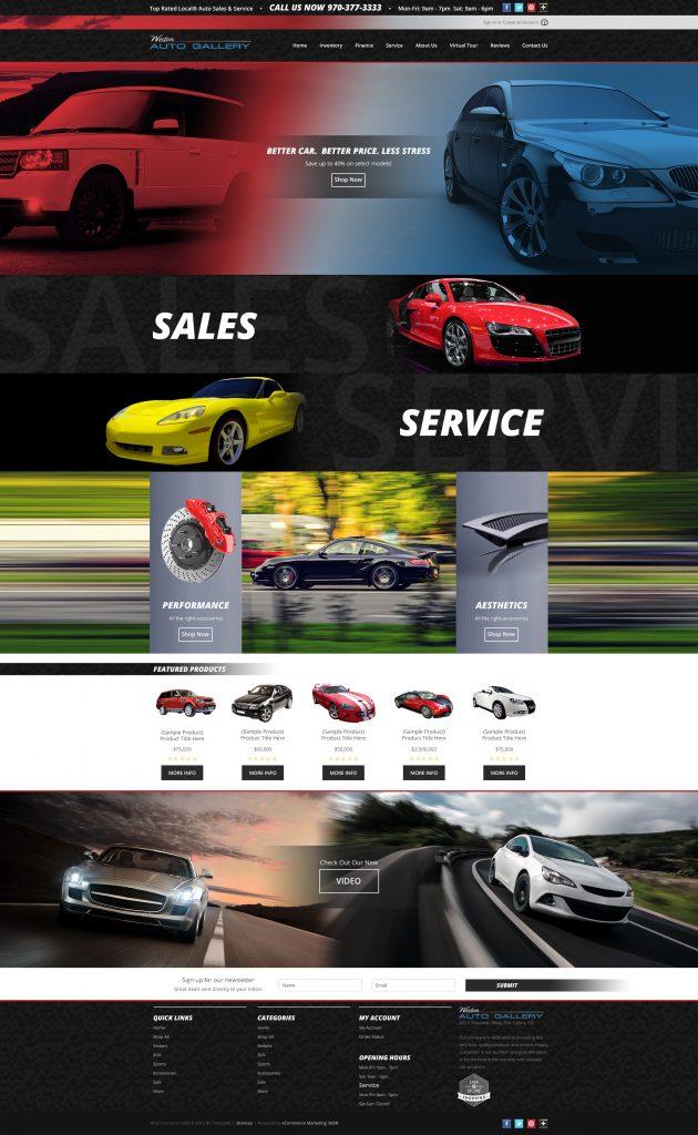 auto dealership website design