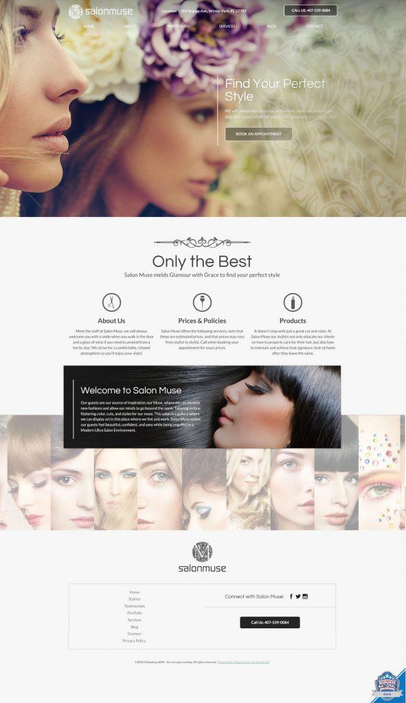 salon website design template