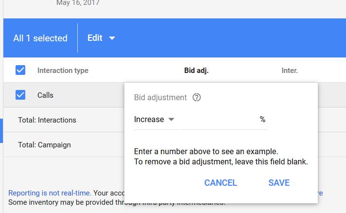bid adjustment
