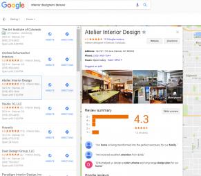 google my business interior design