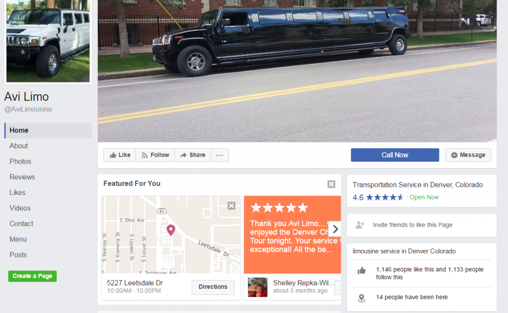 facebook limo