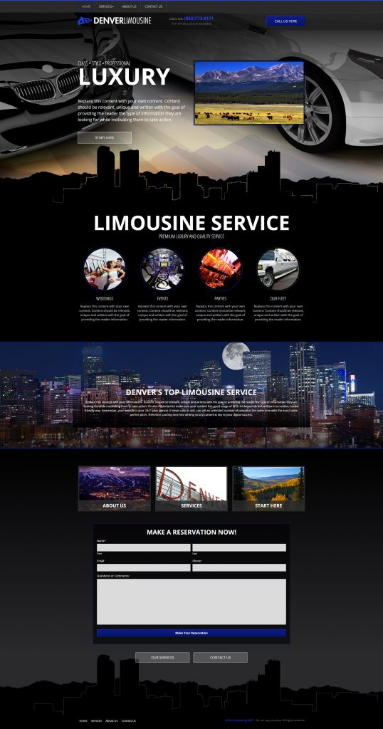 limo service website template
