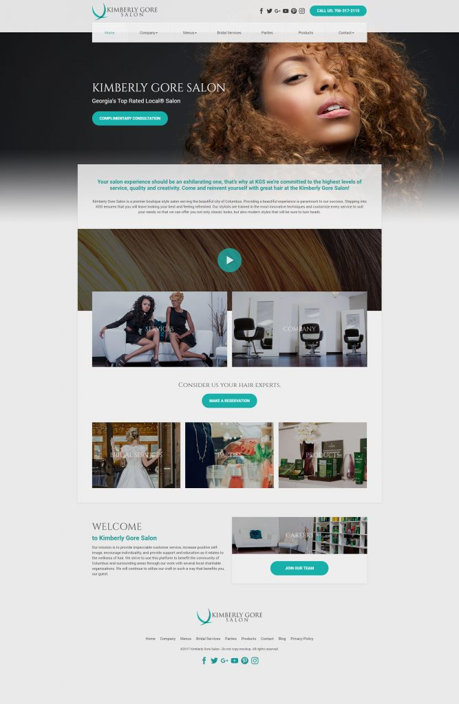 salon website template