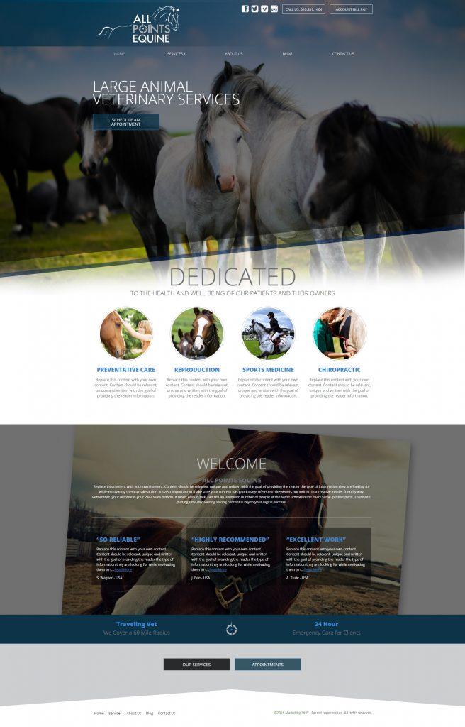 vet website template