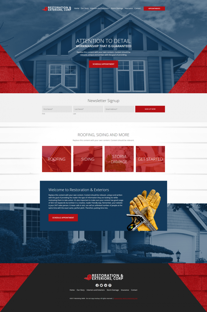 website designs for contractors