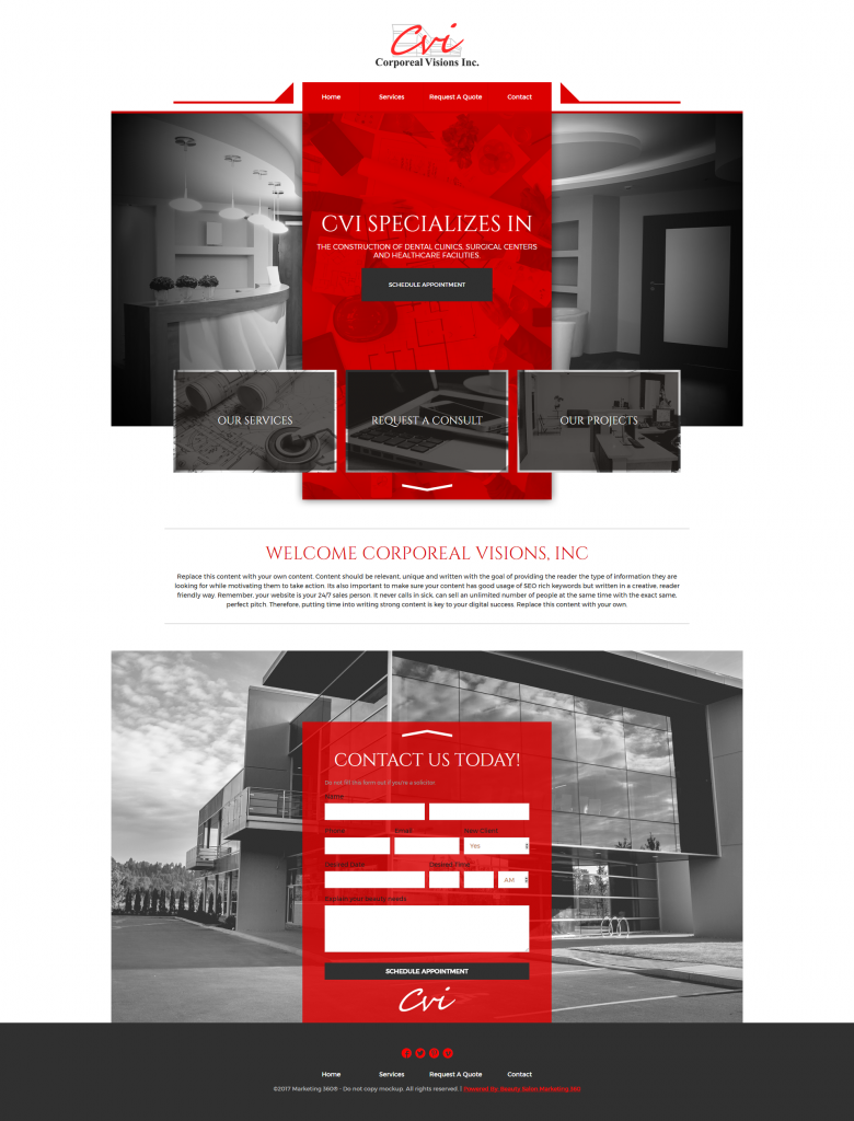 web template contractor