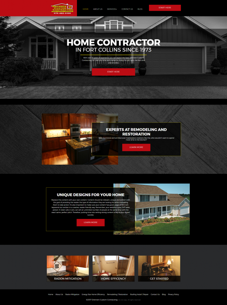 contractor website template 2
