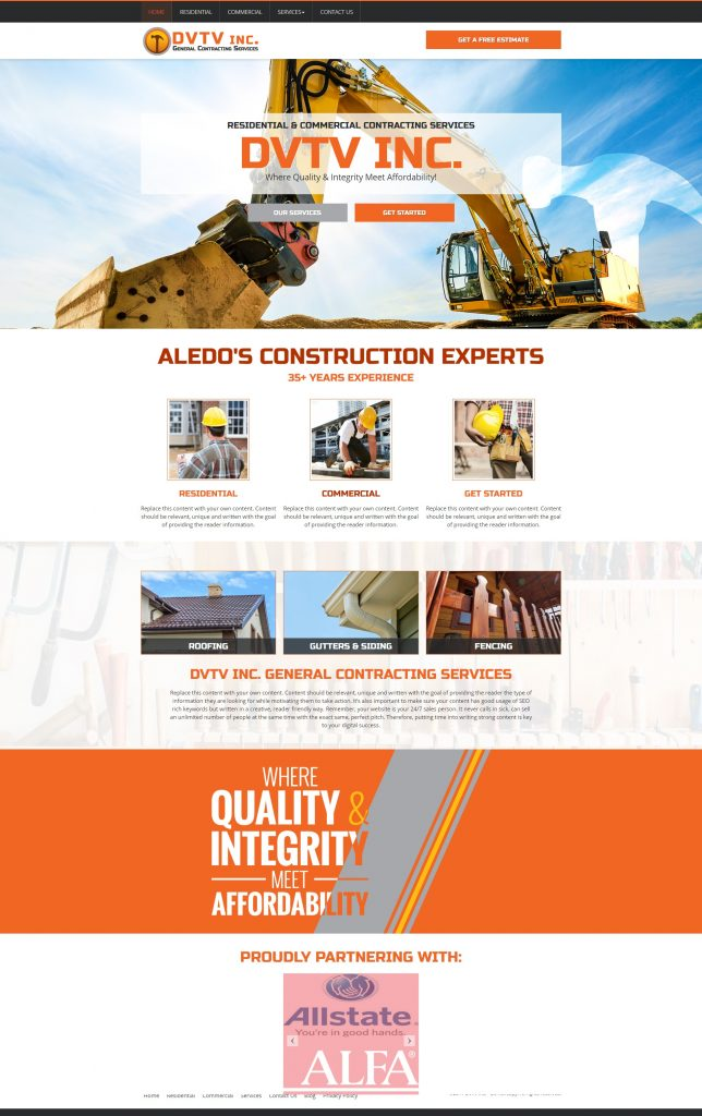 10 Sweet Contractor Website Design Templates - Marketing 360®