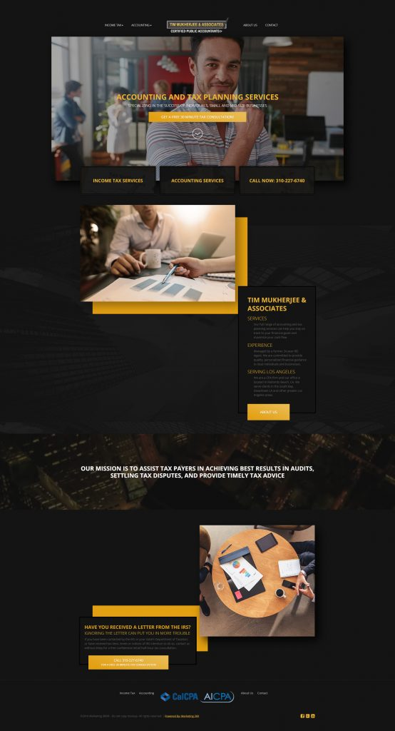 accountant marketing website