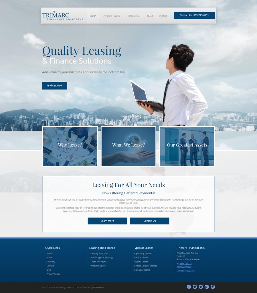 financial advisor website template design