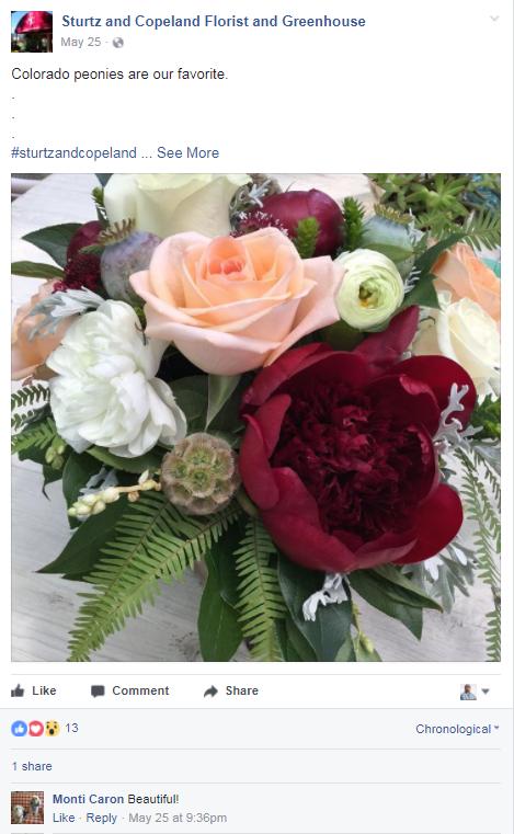 florist facebook marketing