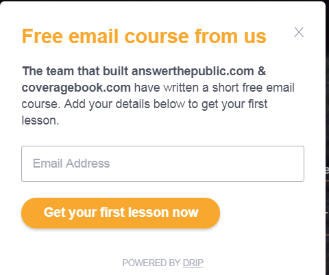 gated content email course