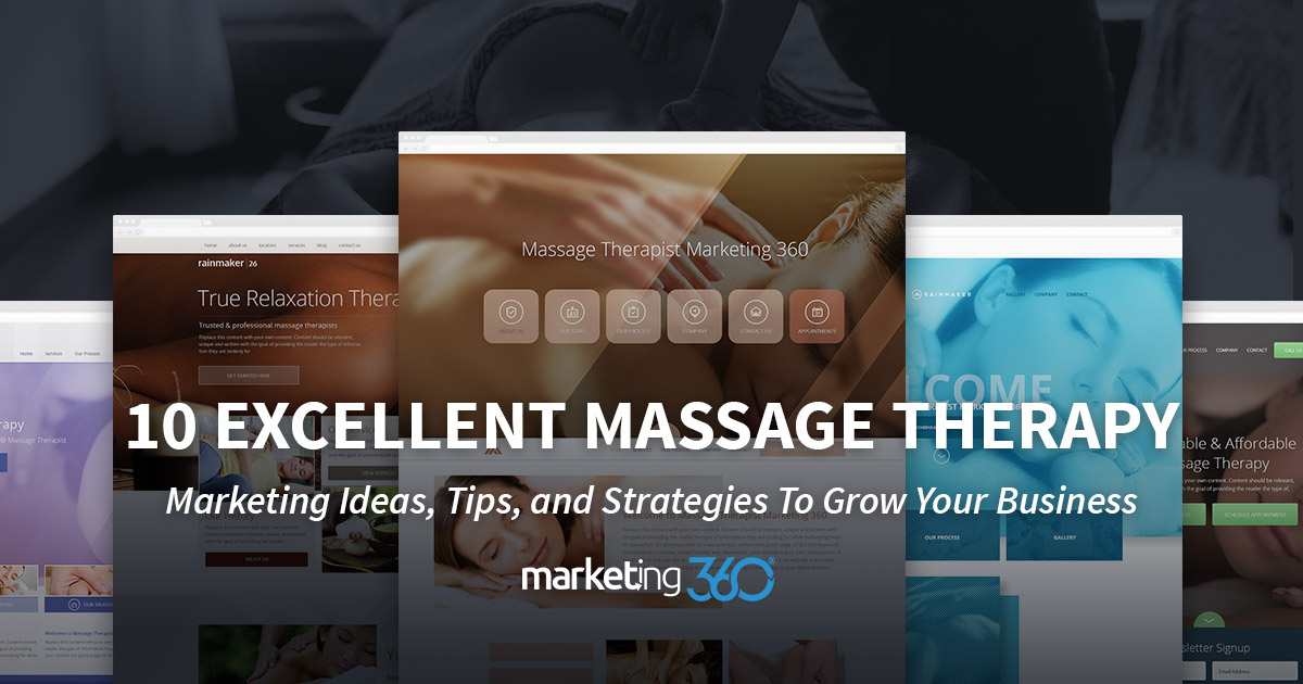 10 Excellent Massage Therapy Marketing Ideas, Tips, and Strategies