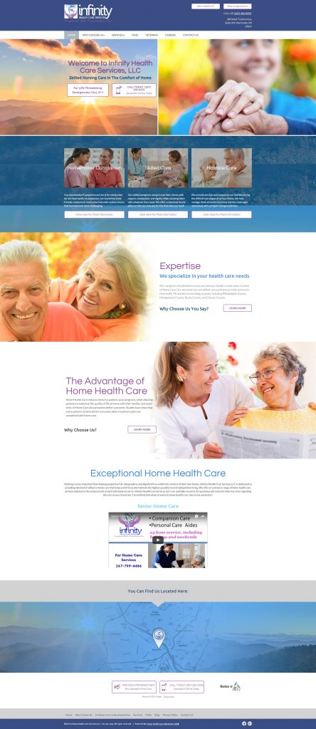assisted living website design