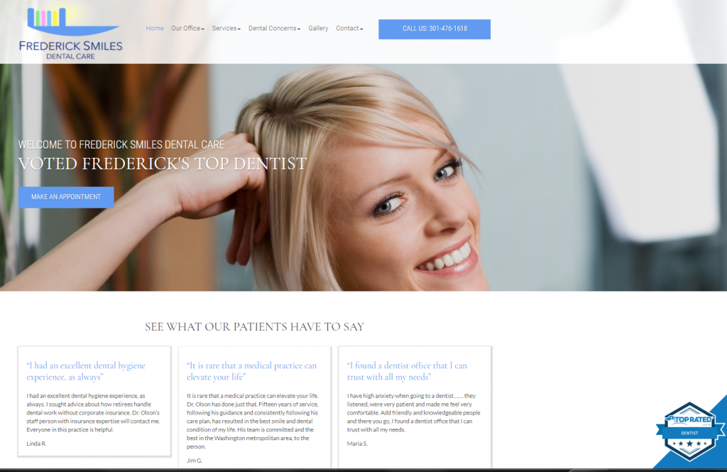 dental case study homepage