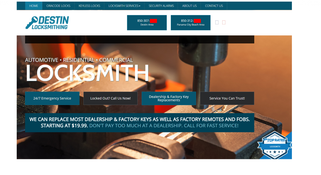locksmith homepage