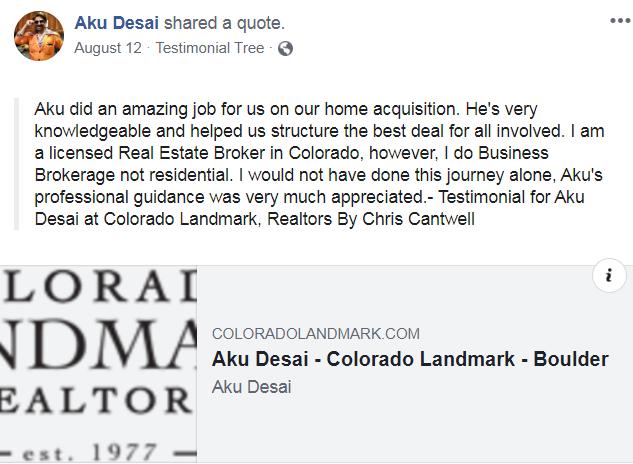 facebook real estate testimonial