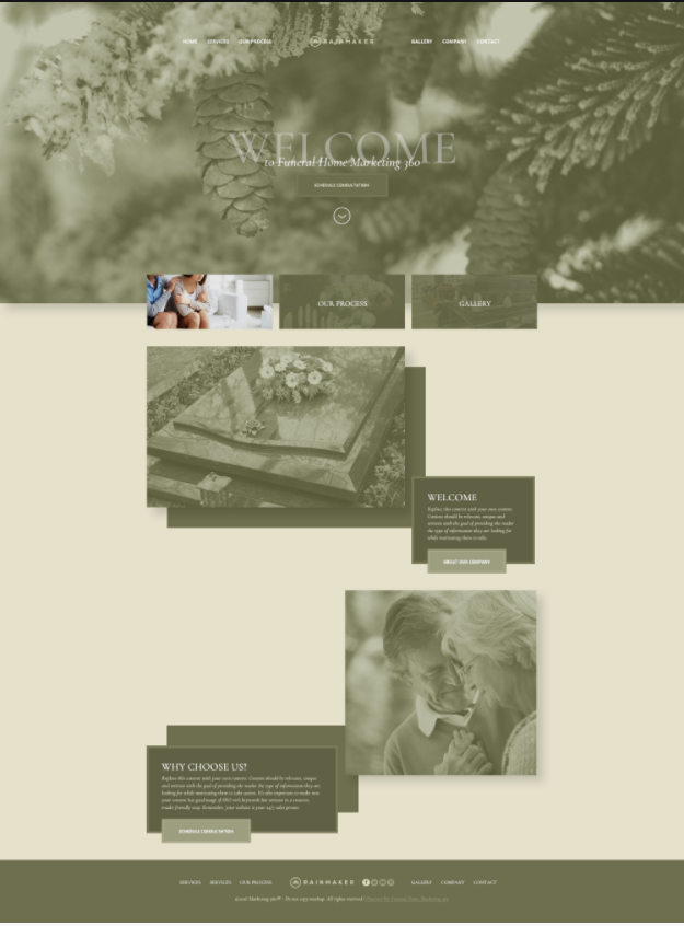 funeral home website template