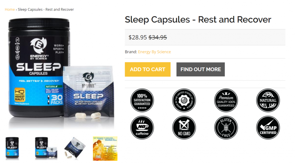 ecommerce product page image example