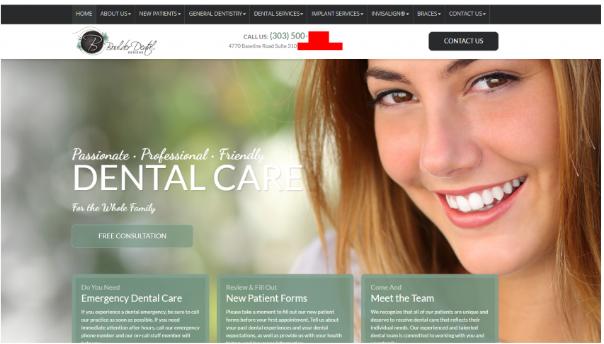 dental marketing case study website