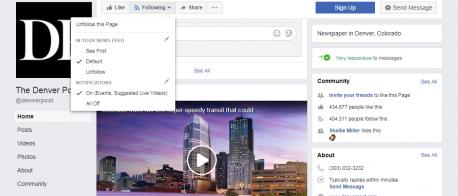 facebook show first