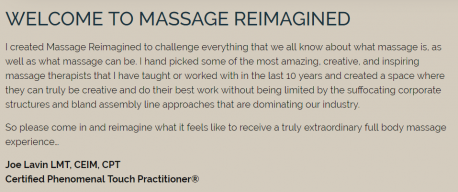 massage therapy value proposition