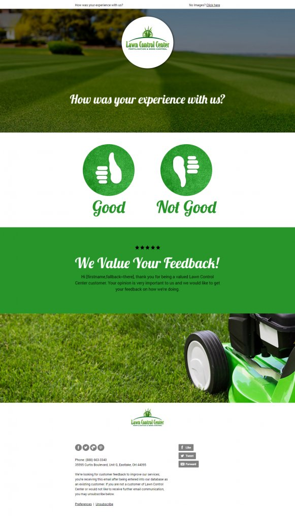 lawn care marketing email