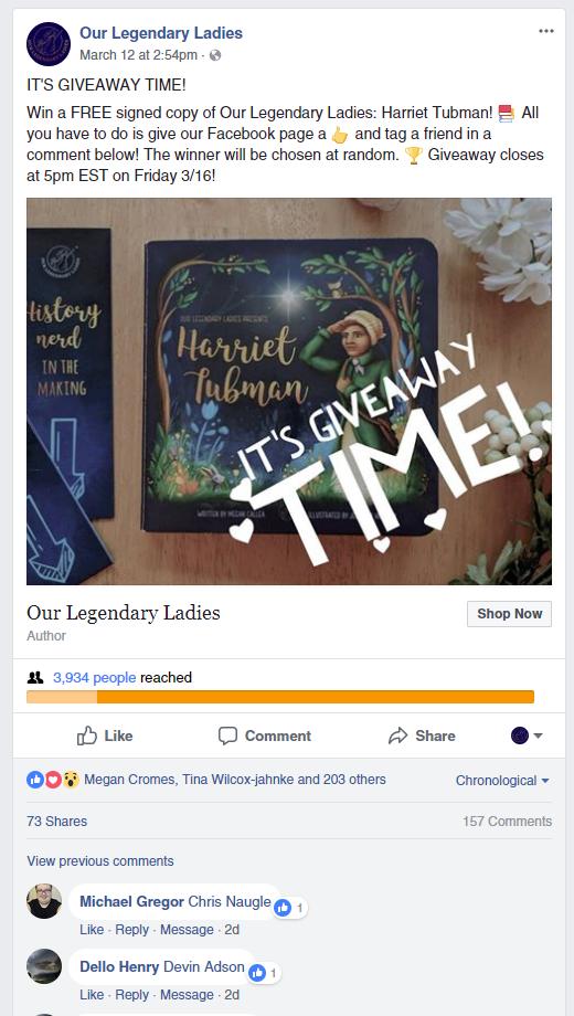 facebook giveaway