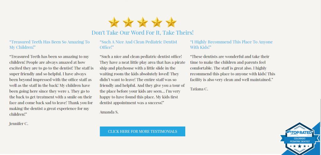 dental testimonials