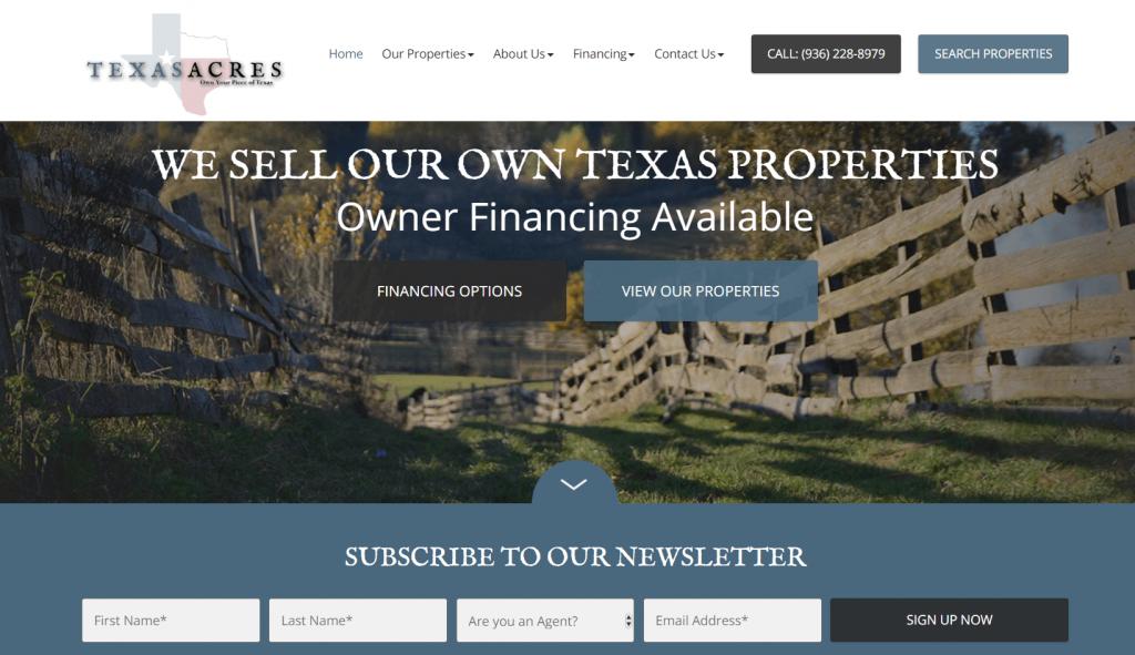 real estate conversion homepage design