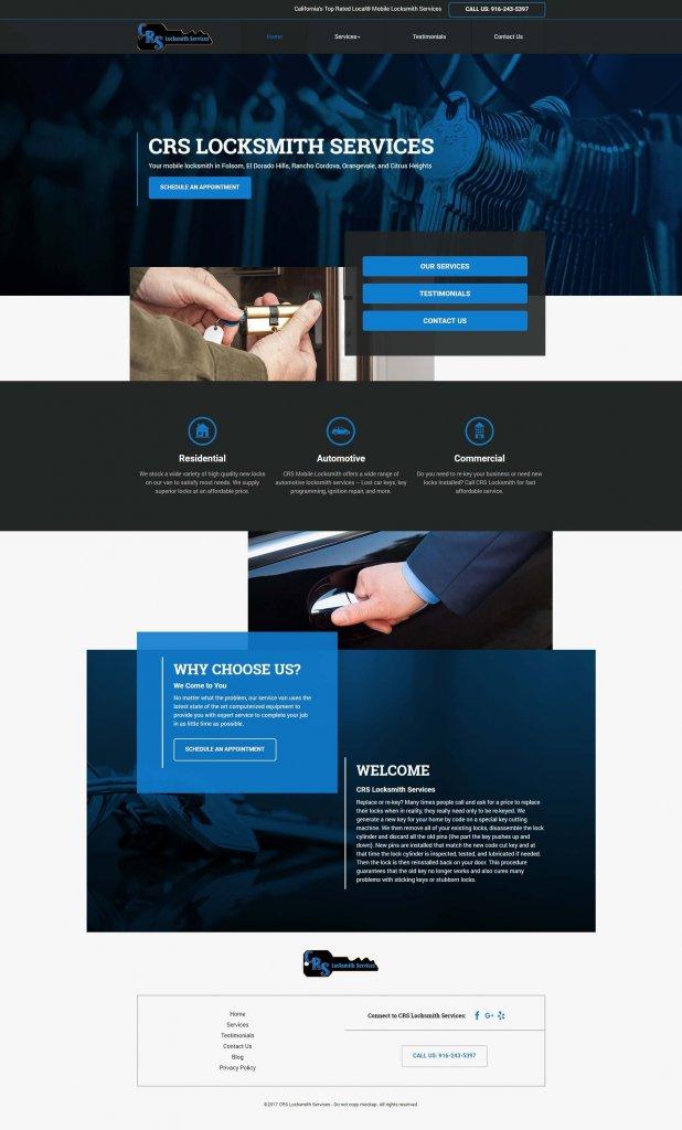locksmith marketing website template