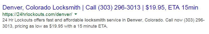 locksmith lead generation organic listing