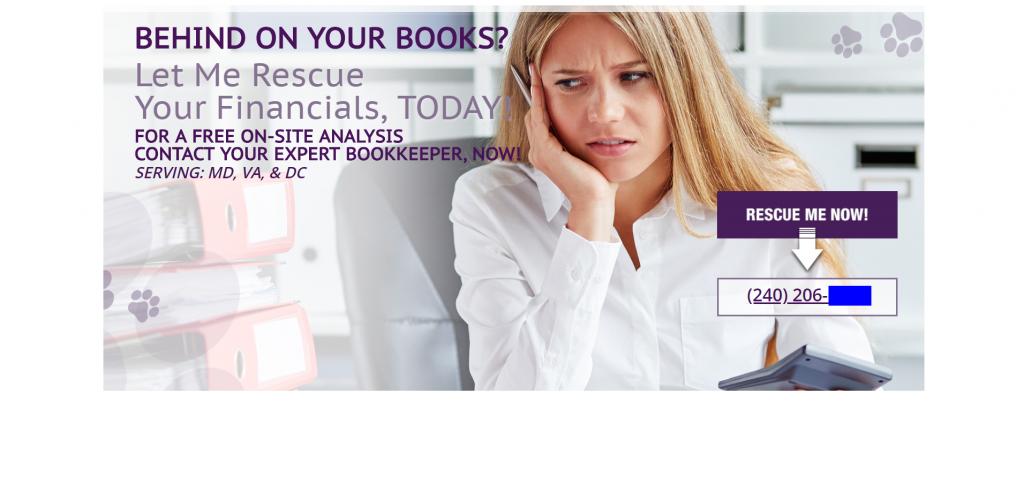 accountant marketing homepage design