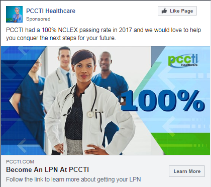 education case study facebook ad