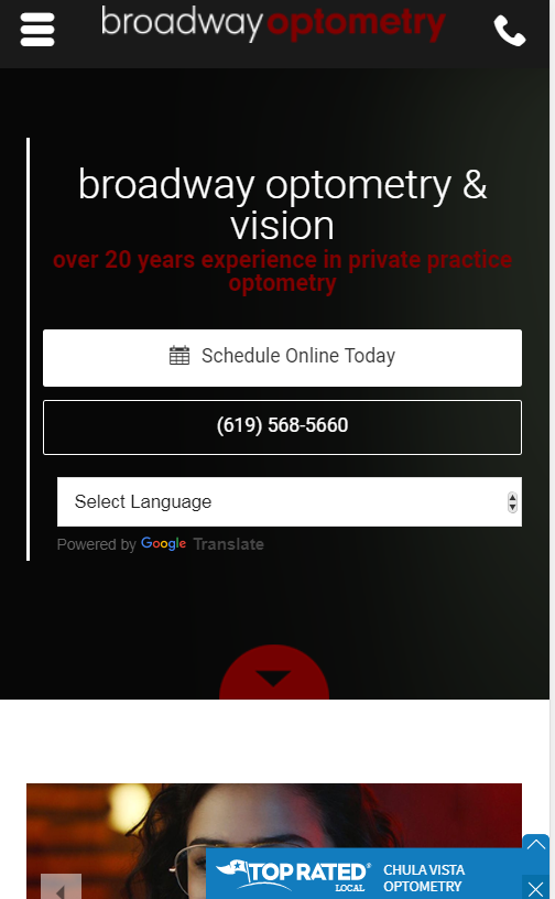 optometry case study website design