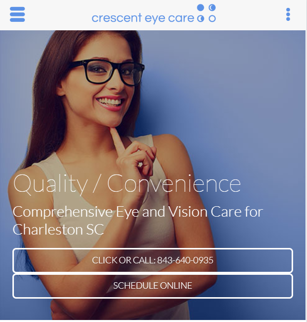 eye doctor website design